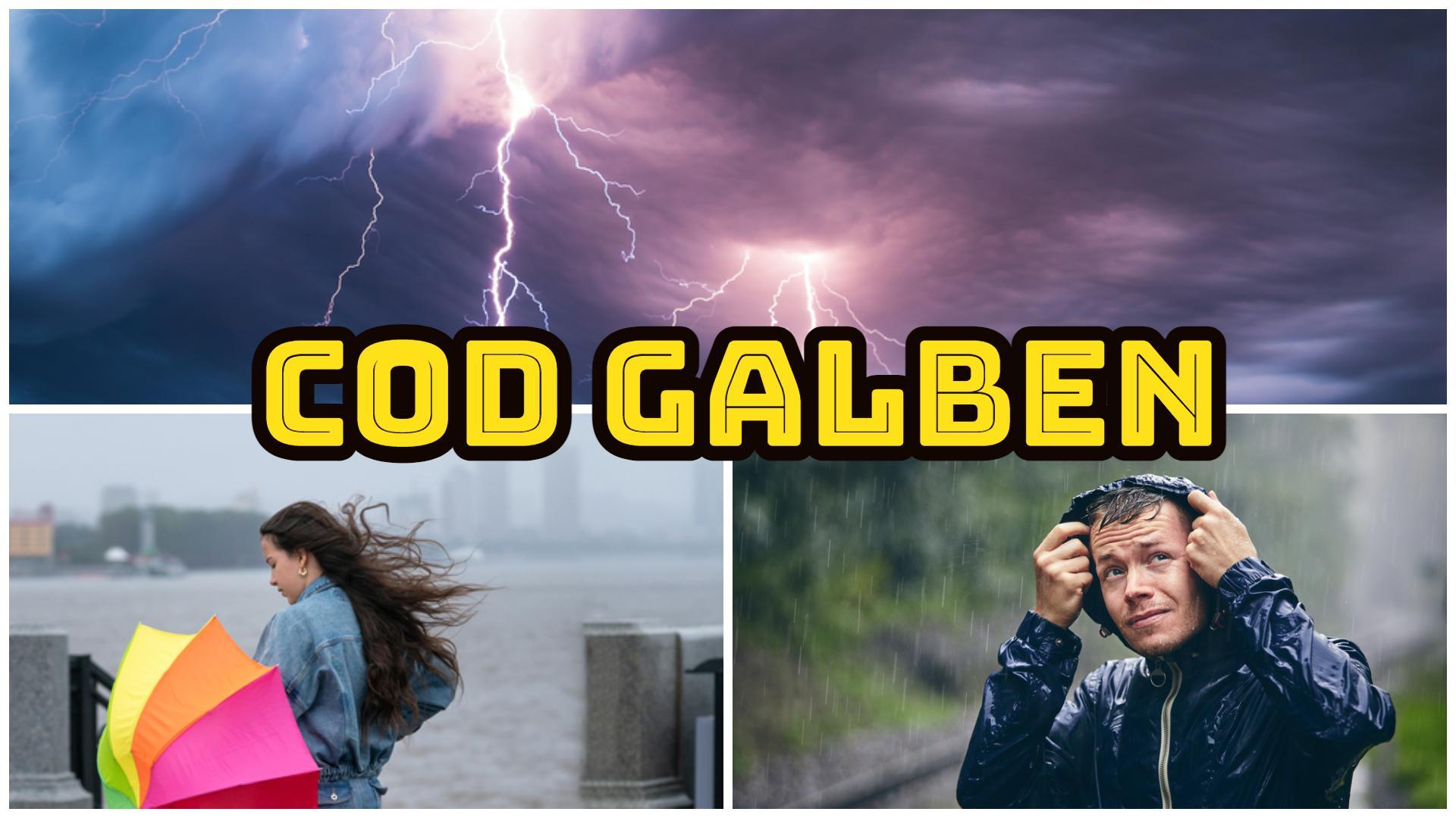 Alertă ANM! Meteorologii anunță cod galben de vijelii, descărcări electrice și vânt, pentru următoarea perioadă. Zonele vizate