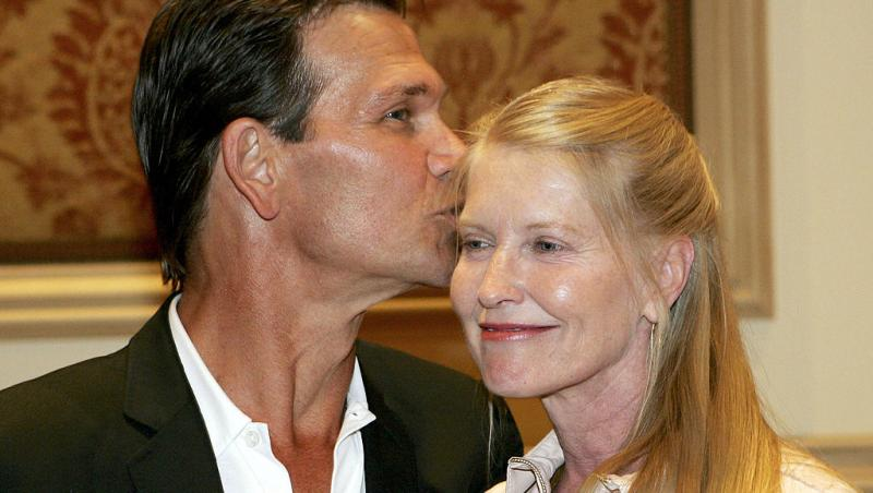 Patrick Swayze, când își săruta soția, Lisa Niemi Swayze