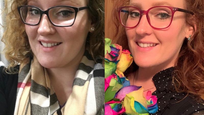 Katie Elizabeth Brenneman, colaj de 2 selfie-uri