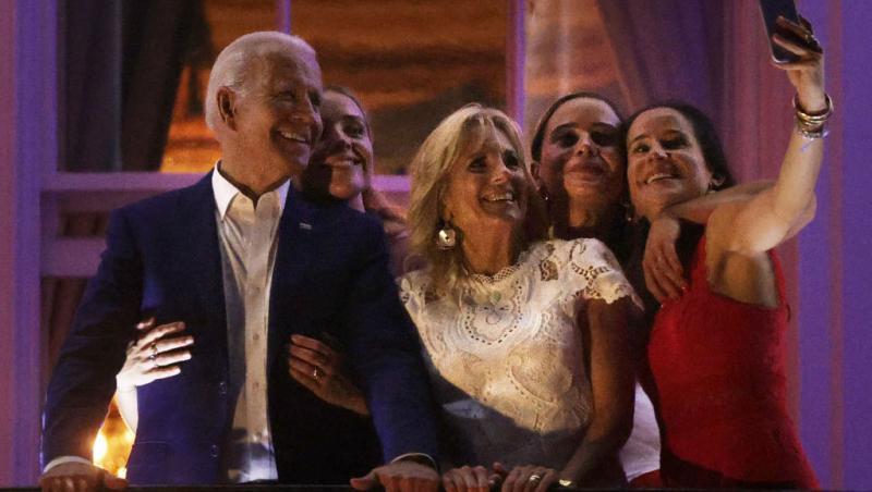 Joe Biden, alături de familia sa, inclusiv nepoata cea mare, Naomi Biden