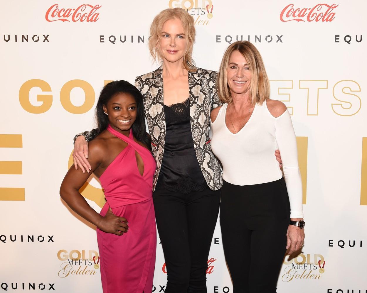 """Nadia Comăneci, la povești cu Nicole Kidman. Celebra actriță i-a spus Nadiei cât de mult o admiră: """"Eu abia pot să stau în mâini"""""""