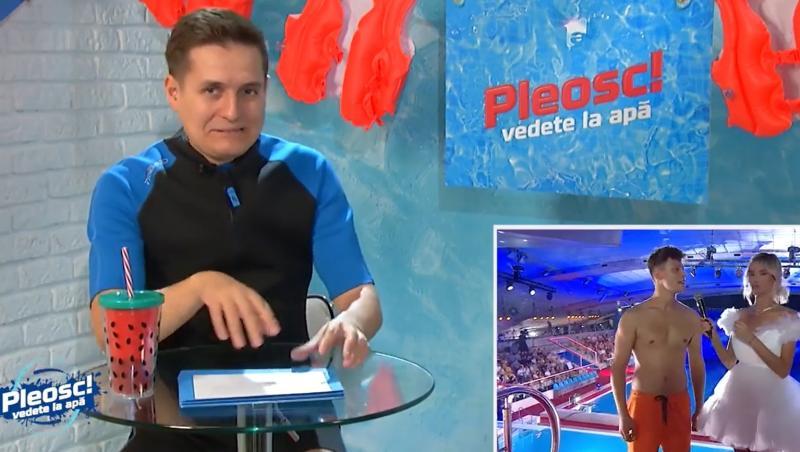 """George Tănase a comentat inclusiv dialogul comic dintre Sebastian Seredinschi și Ramona Olaru,  în episODUL 7 din """"Pleosc! Vedete la apă"""""""