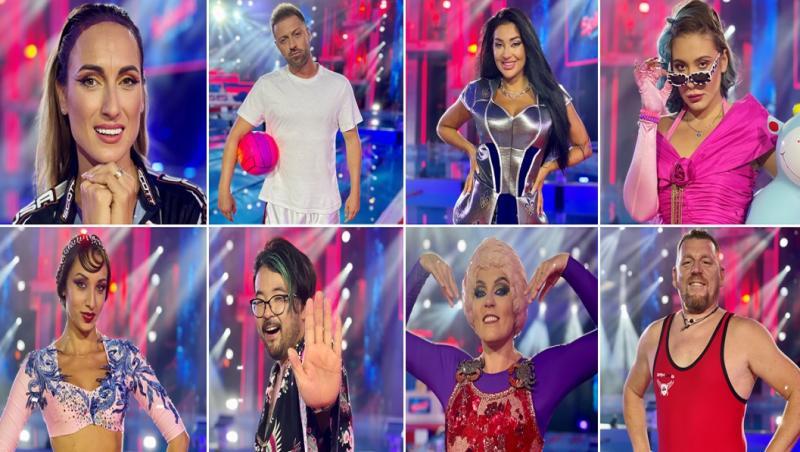 colaj cu cei 8 concurenti din finala Splash! Vedete la apă de la antena 1