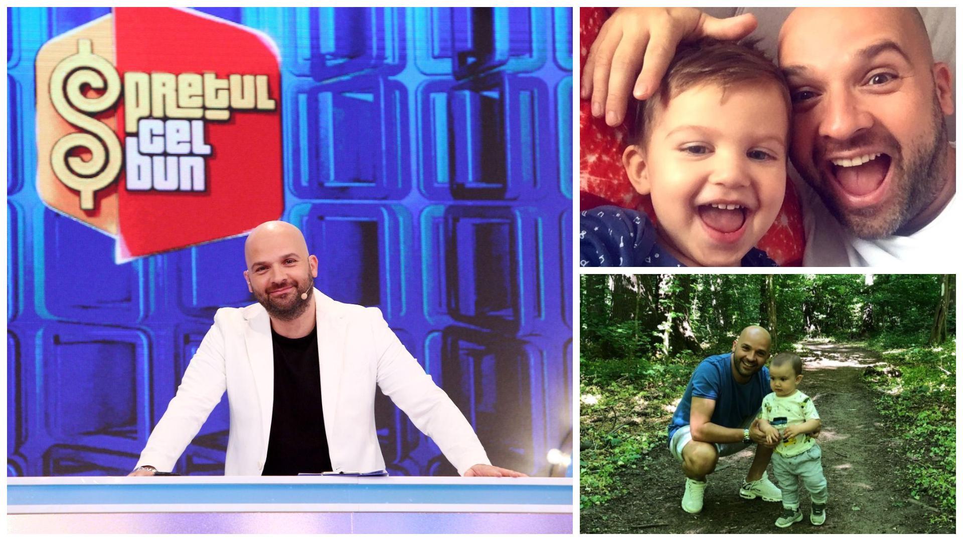 """Andrei Ștefănescu, imagine înduioșătoare cu fiul său, la început de an școlar. """"De azi la gradiniță"""""""