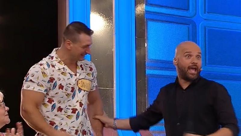 Prețul cel bun, 14 septembrie 2021. Liviu Vârciu și Andrei Ștefănescu, autoironii după ce Daniel și-a încordat mușchii în platou