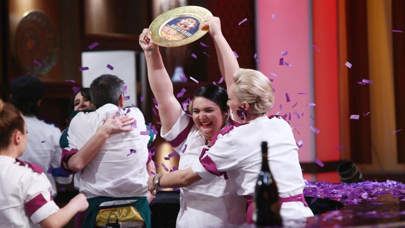 Narcisa Birjaru, câștigătorea sezonului 9 Chefi la cuțite, în platoul emisiunii culinare