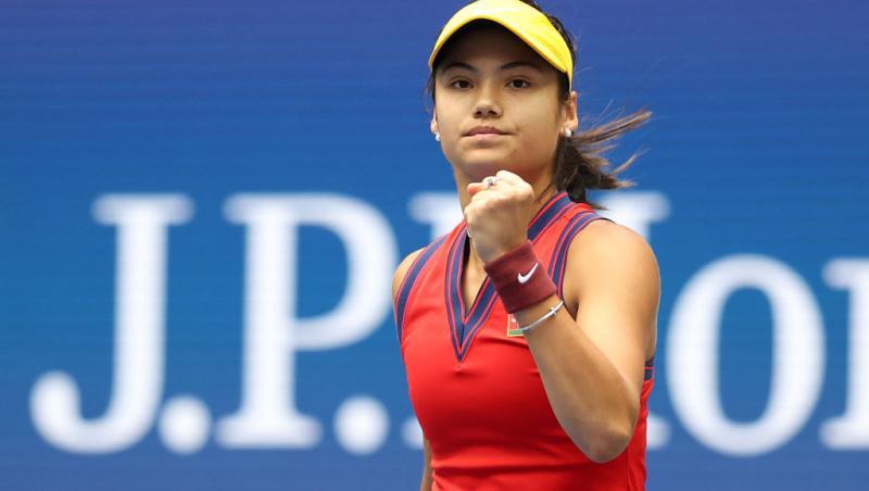 Emma Răducanu este noua senzație a tenisului mondial