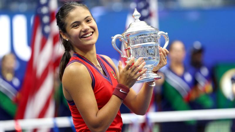 Emma Răducanu a ridicat trofeul US Open 2021