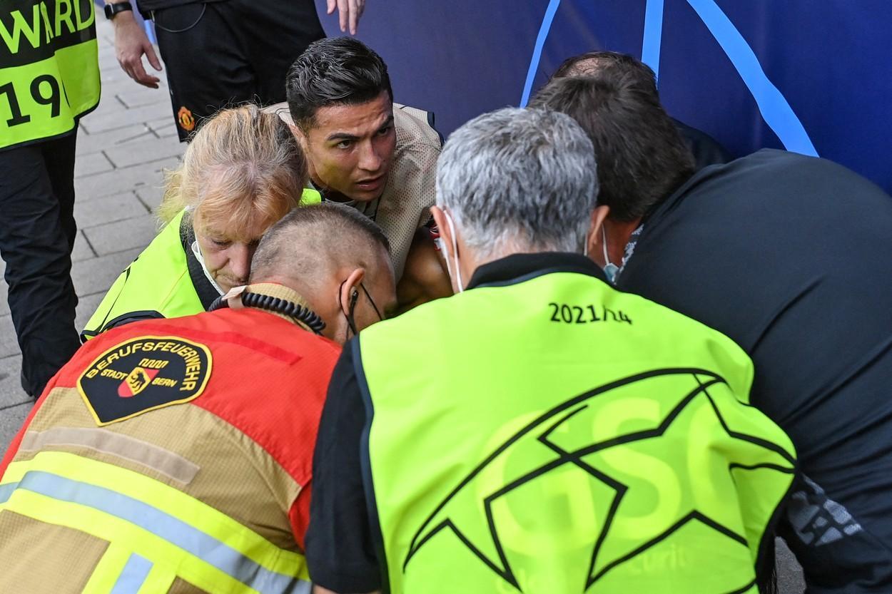 Cristiano Ronaldo a lovit cu mingea o femeie la meciul cu Young Boys. Fotbalistul a dat dovadă de empatie și a reacționat rapid