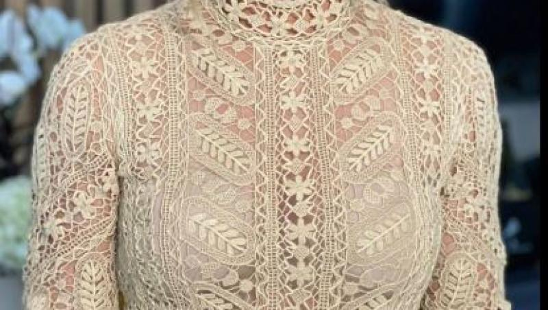 simona halep intr-o rochie crem la nunta cu toni iuruc