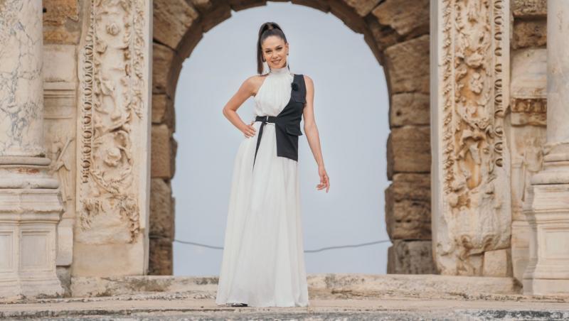 irina fodor in rochie alba, la asia express sezonul 4