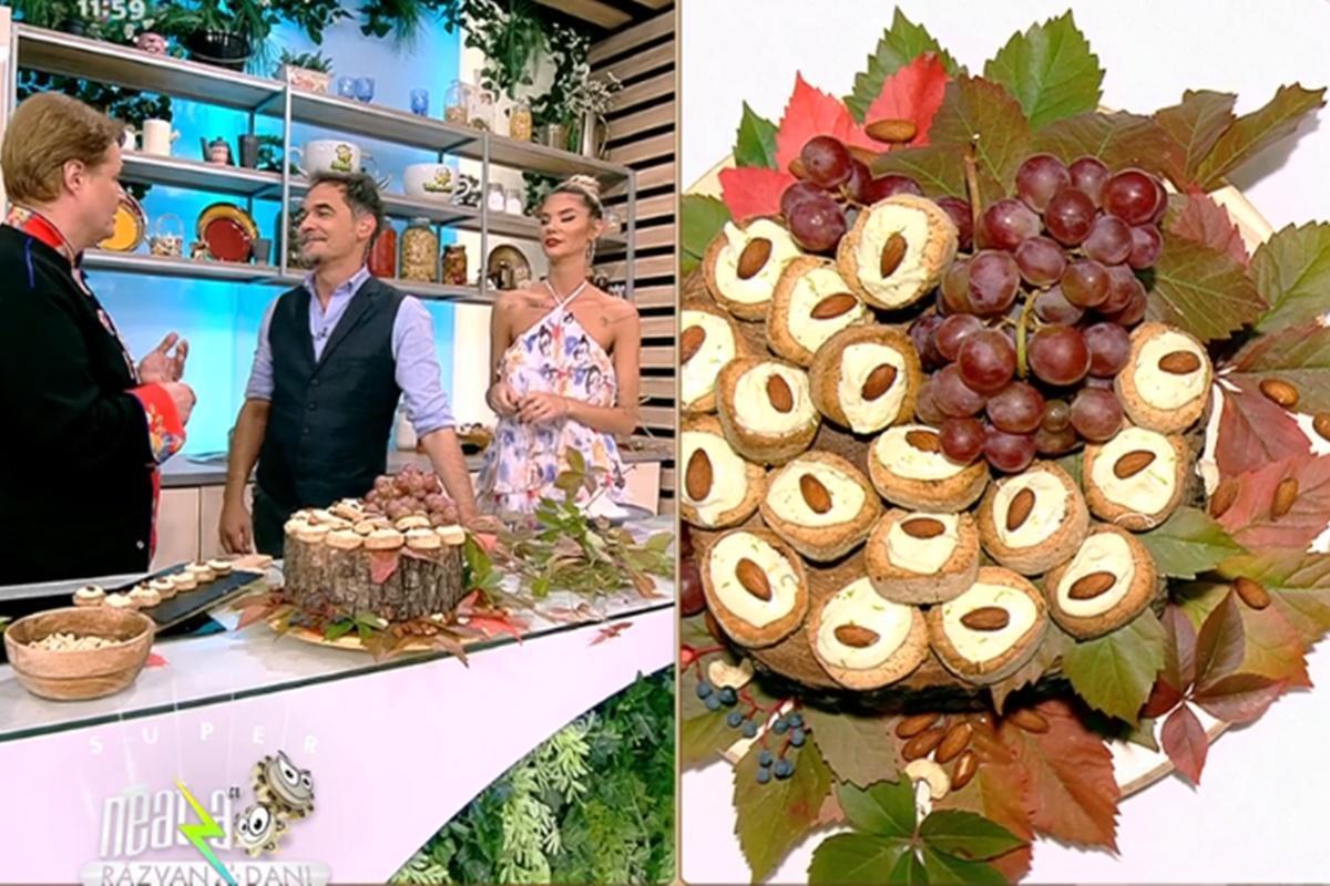Rețeta zilei la Super Neatza, 24 septembrie 2021, preparată de Vlăduț: Fursecuri cu nuci și alune glazurate cu ciocolată albă