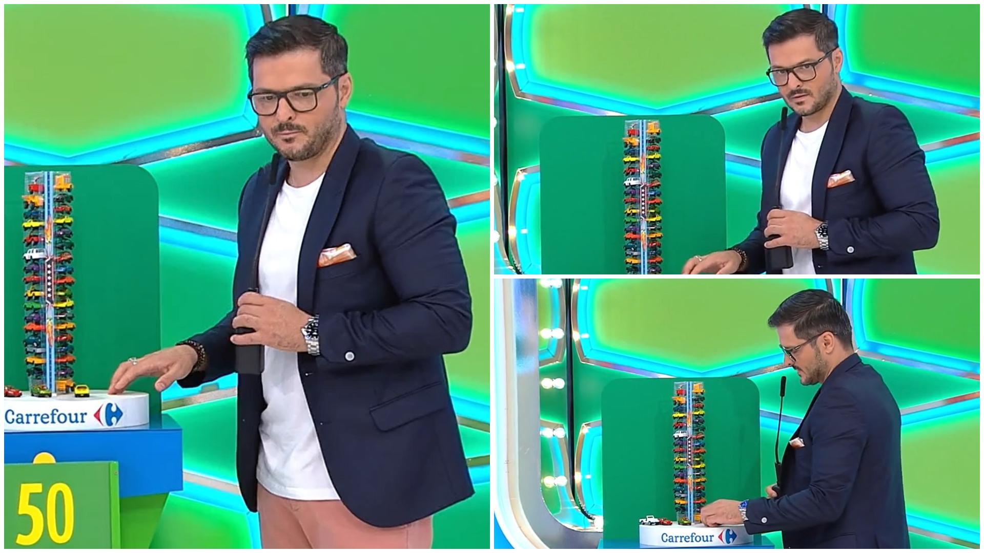 """Prețul cel bun, 28 septembrie 2021. Ce a făcut Liviu Vârciu cu o mașină de jucărie în platoul emisiunii: """"Trebuie să fac asta"""""""