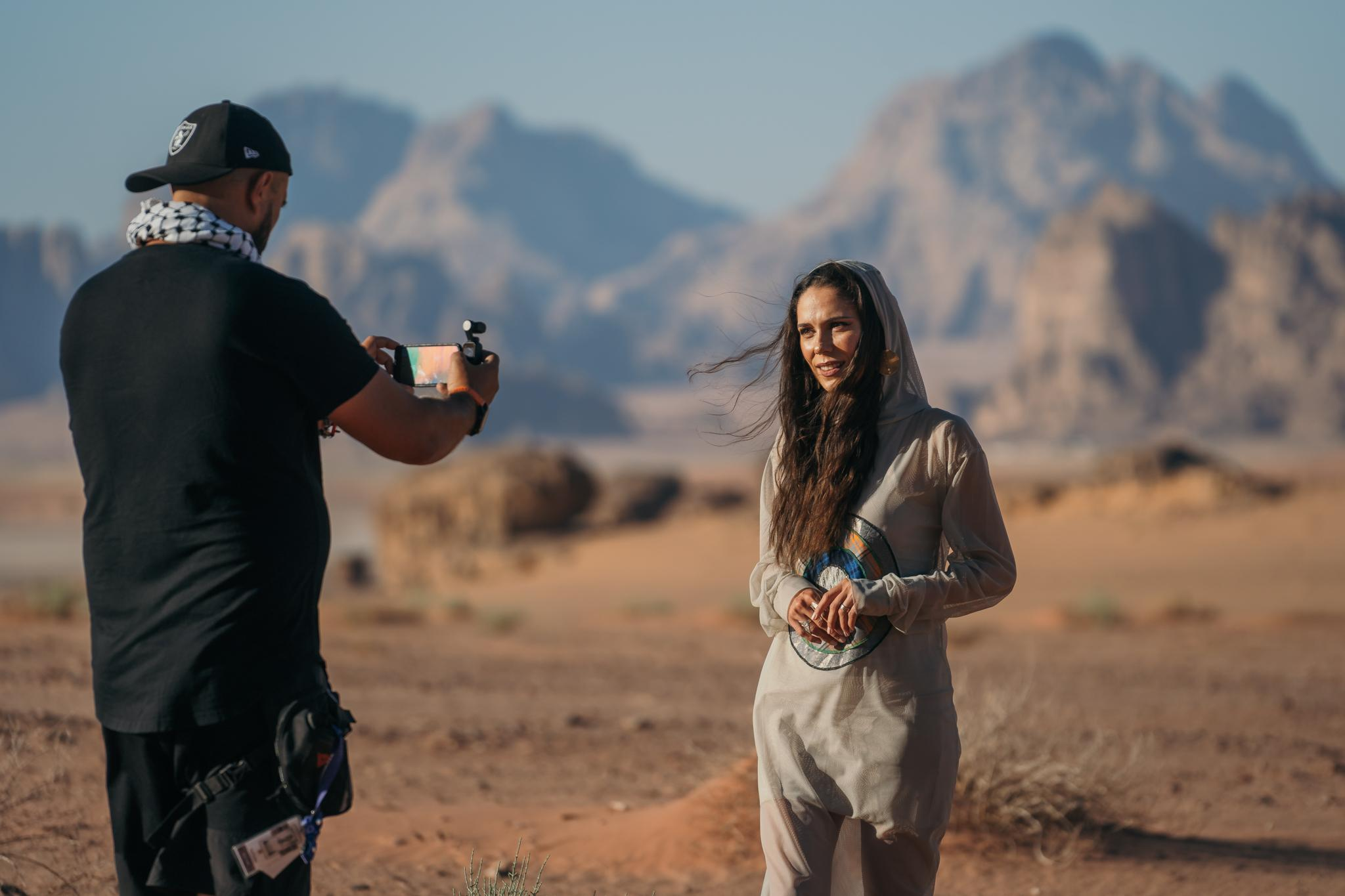 Irina Fodor, în deșert