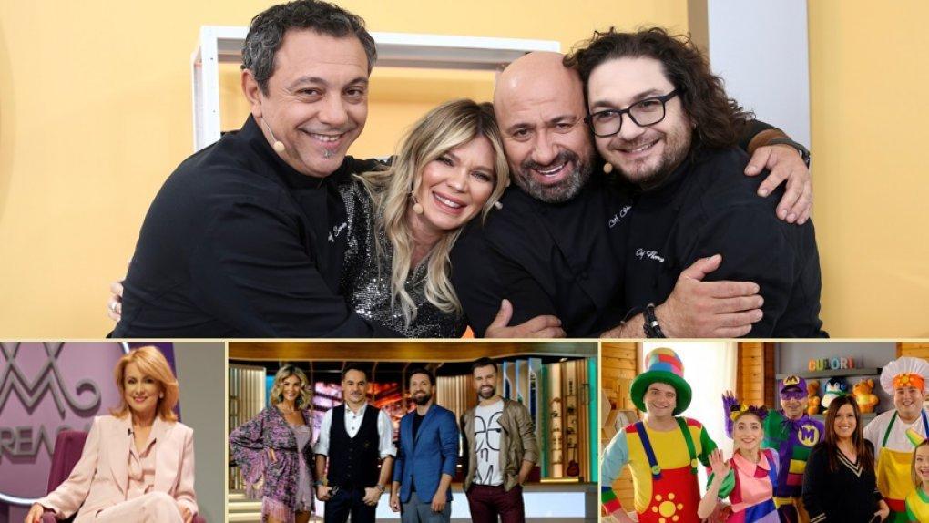 colaj foto cu cele 4 emisiuni de duminică, 28 februarie 2021: casa zurli, neatza cu razvan si dani,chefi al cutite si mireasa