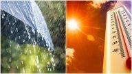 Cod galben de caniculă și furtuni. În ce zone va fi cel mai cald și unde va ploua torențial