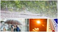 Cod portocaliu de caniculă și vijelii! În ce zone sunt așteptate ploi torențiale și grindină