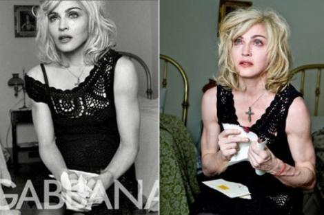 Madonna, furioasa pentru pozele neretusate