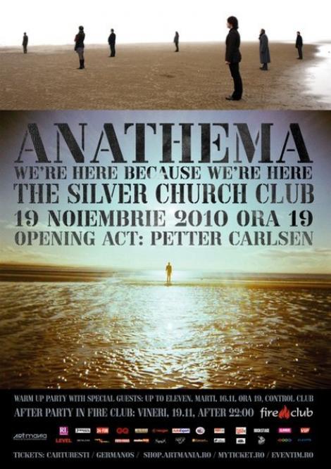 Concertul Anathema se muta in Silver Church