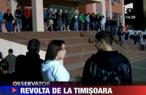 VIDEO! Timisoara: Revolta intr-un complex universitar