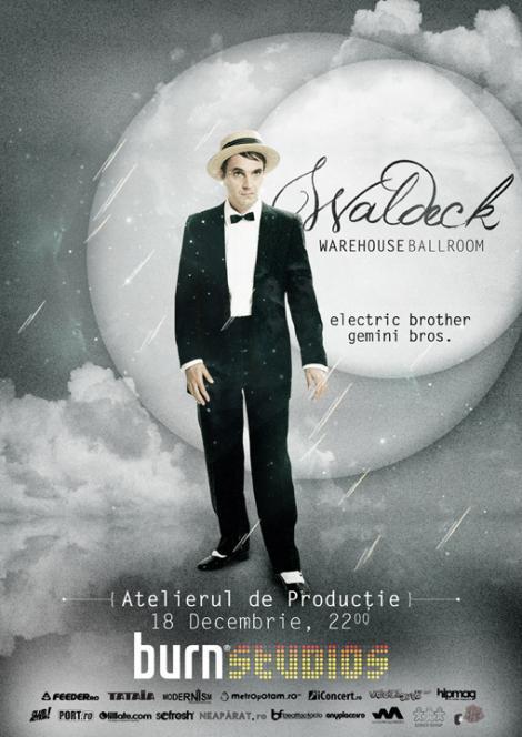 Klaus Waldeck vine la Warehouse Ballroom, pe 18 Decembrie