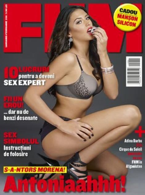 Antonia Iacobescu a pozat in FHM