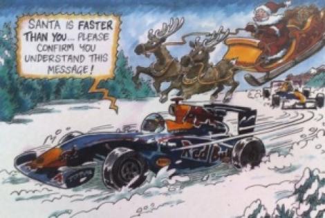 F1: Red Bull ironizeaza Ferrari in felicitarea de Craciun!