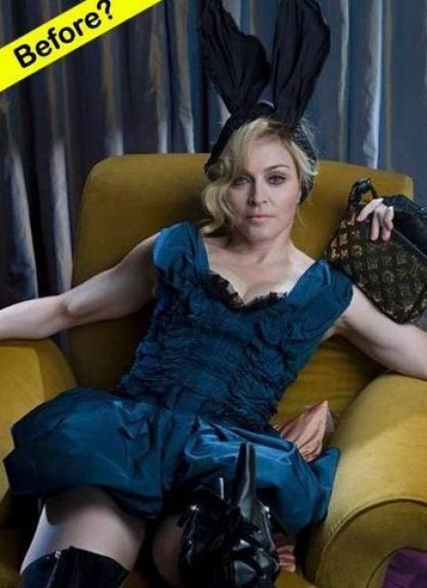 Madonna, inainte si dupa Photoshop