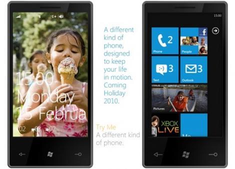 Windows Phone 7 apare la finalul anului