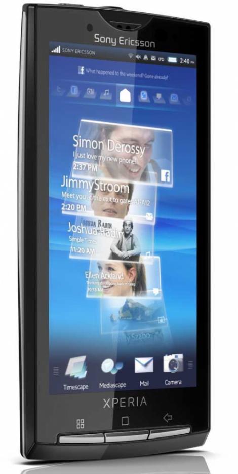 Primul droid Sony Ericsson: Xperia X10