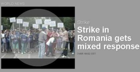 """Presa internationala, despre greva: """"Romanii nu prea s-au mobilizat"""""""
