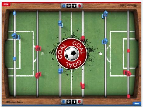 Fotbal pe iPad: Foosball HD