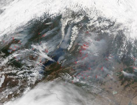 Incendiile de padure continua sa se extinda in Rusia