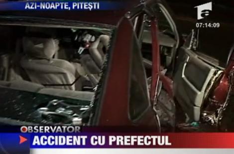 VIDEO! Prefectul de Arges, implicat intr-un accident rutier