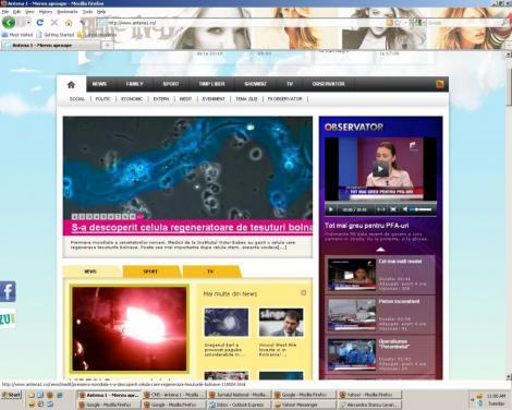 m.antena1.ro a intrat in topul celor mai vizionate mobisite-uri, direct pe locul 9