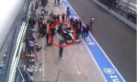VIDEO! F1/ Un mecanic a fost lovit grav de monopostul lui Sakon Yamamoto