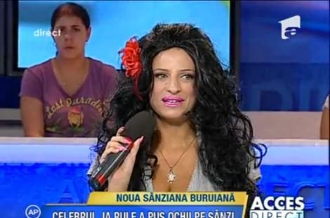 Sanziana Buruiana se face fata serioasa si s-a vopsit bruneta