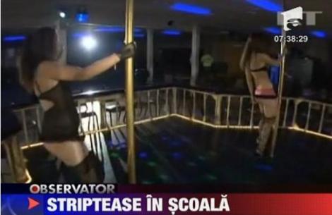 VIDEO! SUA: O scoala a fost transformata intr-un club de striptease
