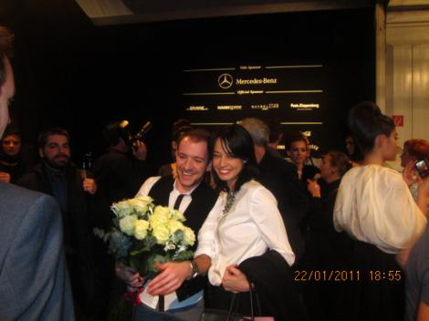 FOTO! Andreea Raicu a tremurat la Saptamana Modei de la Berlin