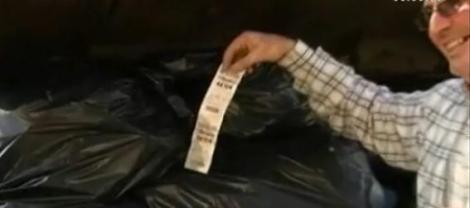 A aruncat la gunoi un bilet de loterie care valora 10 milioane de euro