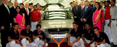 Skoda Rapid ataca Dacia Logan din India