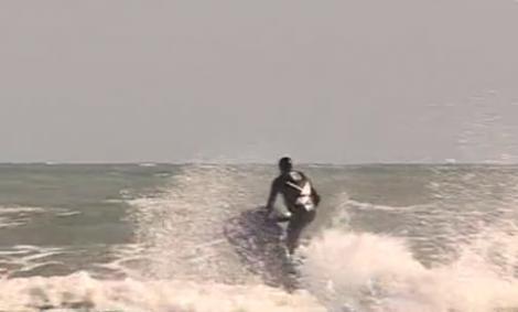 VIDEO! Radu Mazare a facut senzatie pe SkiJet!