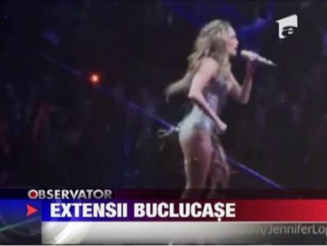 VIDEO! Jennifer Lopez a ramas fara par la concert!