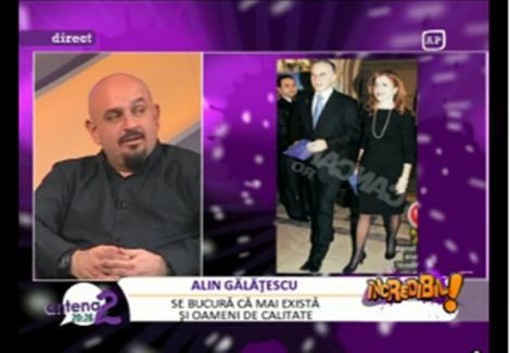 """VIDEO! Alin Galatescu: """"Mihaela Geoana a vrut sa fie mai 'coola' decat regina"""""""