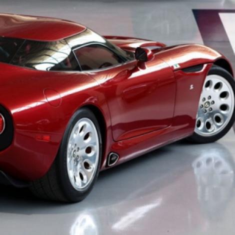 Alfa Romeo TZ3 Stradale, in actiune