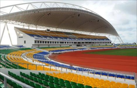 """VIDEO! Pana de curent la """"amicalul"""" Gabon- Brazilia. Arena va gazdui finala Cupei Africii 2012"""