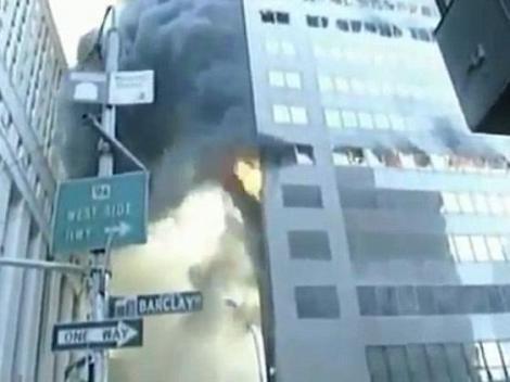 9/11: O inregistrare video demonteaza teoria conspiratiei - A 7-a cladire de la WTC, distrusa de flacari