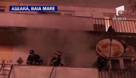 VIDEO! Balcon in flacari la Baia Mare