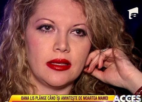 """VIDEO! Oana Lis nu si-a revenit dupa pierderea mamei: """"Am suferit mult"""""""