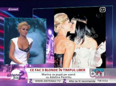 VIDEO! Marina Dina si Adelina Pestritu s-au tinut de mana si sarutat!